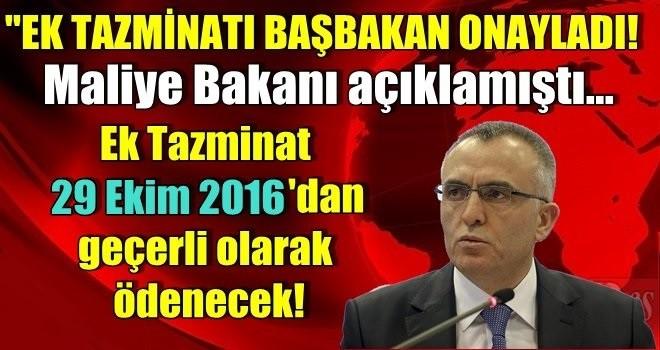 Başbakandan Ek Tazminata Onay.
