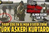 Türk askeri kurtardı: Ürdün askerleri Alman askerlerini darp etti