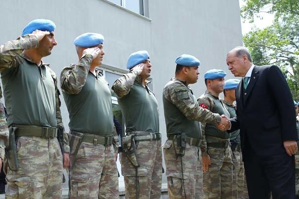 Cumhurbaşkanı Recep Tayyip Erdoğan, Hadımköy Jandarma Koman