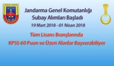 2018 Jandarma Subay Alımları | Tüm Branşlar | KPSS 60